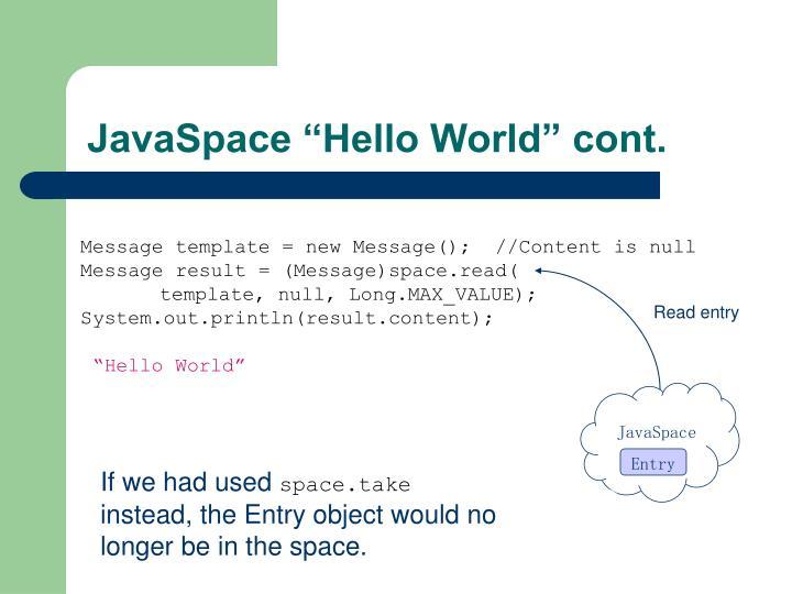 JavaSpace