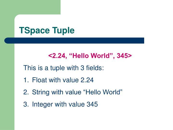 TSpace Tuple