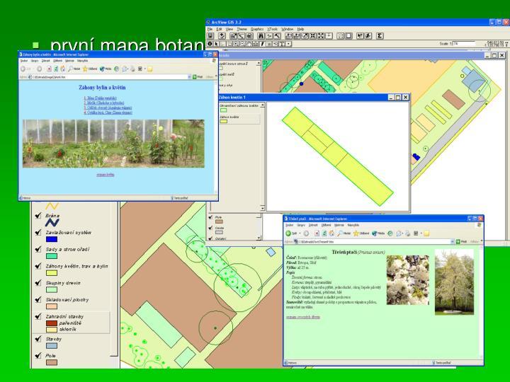 první mapa botanické zahrady