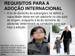requisitos para a ado o internacional