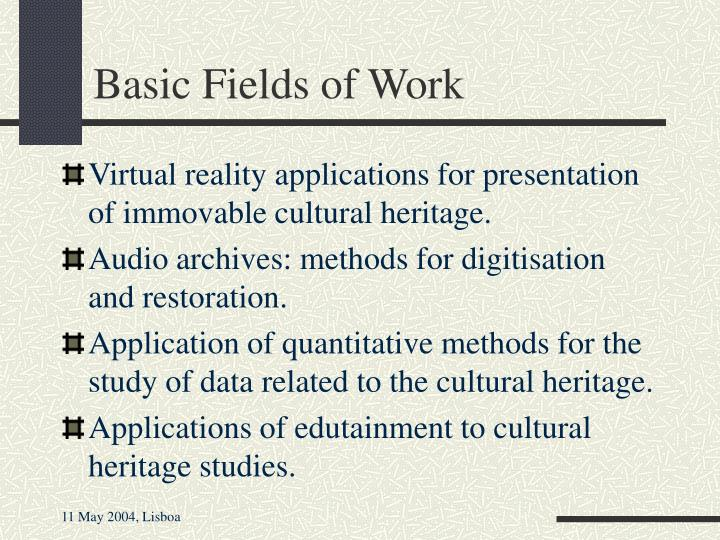 Basic Fields of Work