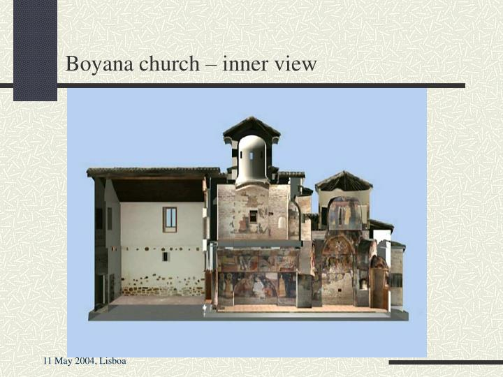 Boyana church – inner view
