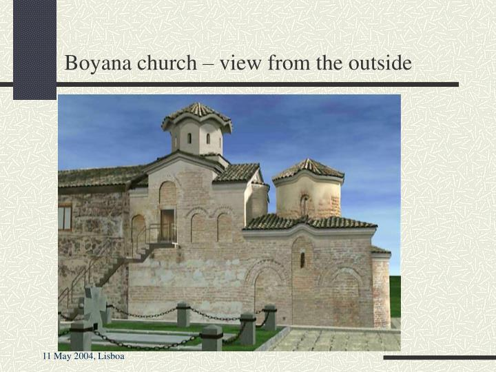 Boyana church – view from the outside