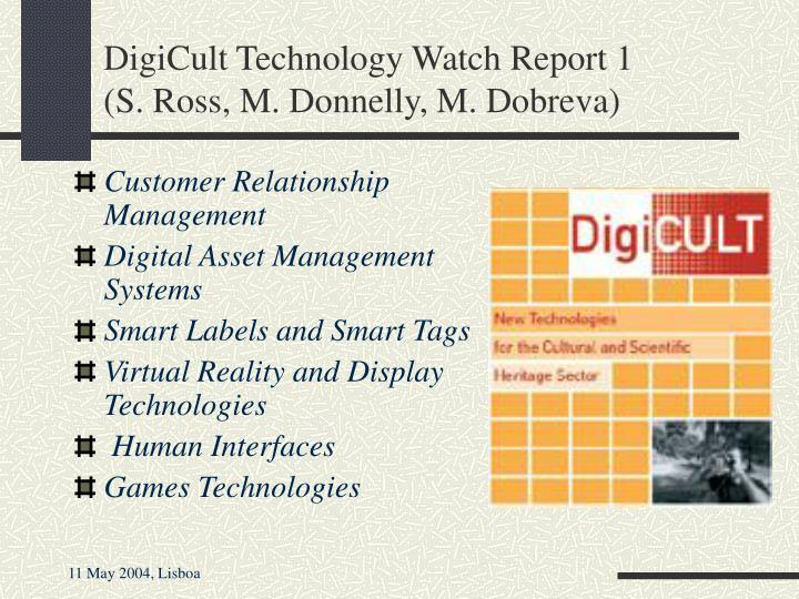 DigiCult Technology Watch Report 1
