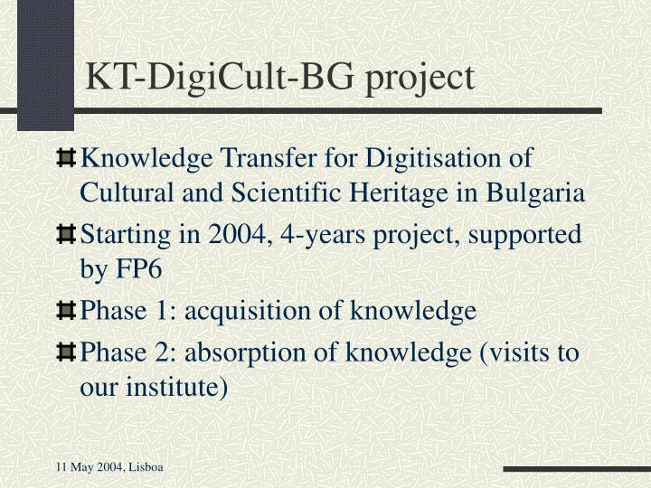 KT-DigiCult-BG project