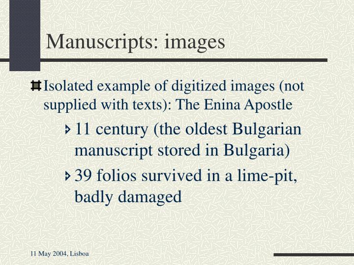 Manuscripts: images