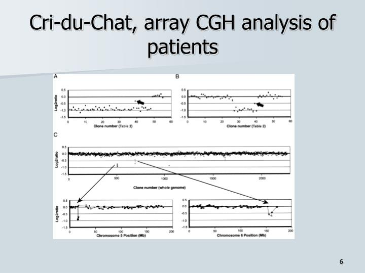 Cri-du-Chat, array CGH analysis of patients