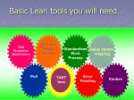 basic lean tools you will need