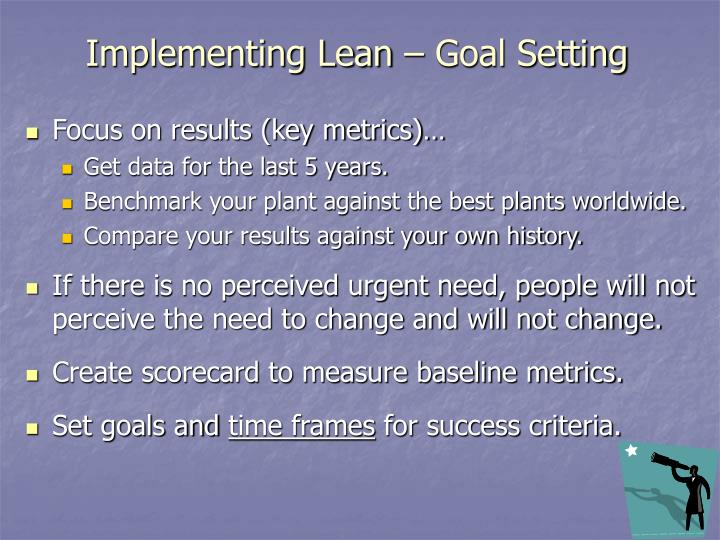 Implementing Lean – Goal Setting