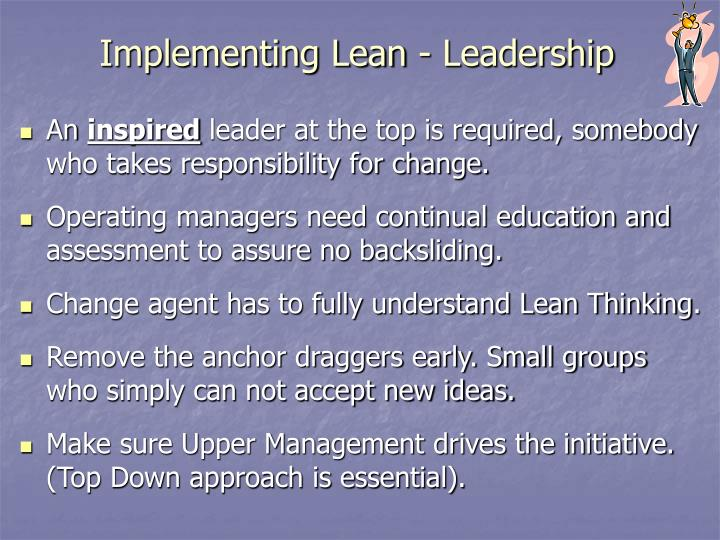 Implementing Lean - Leadership