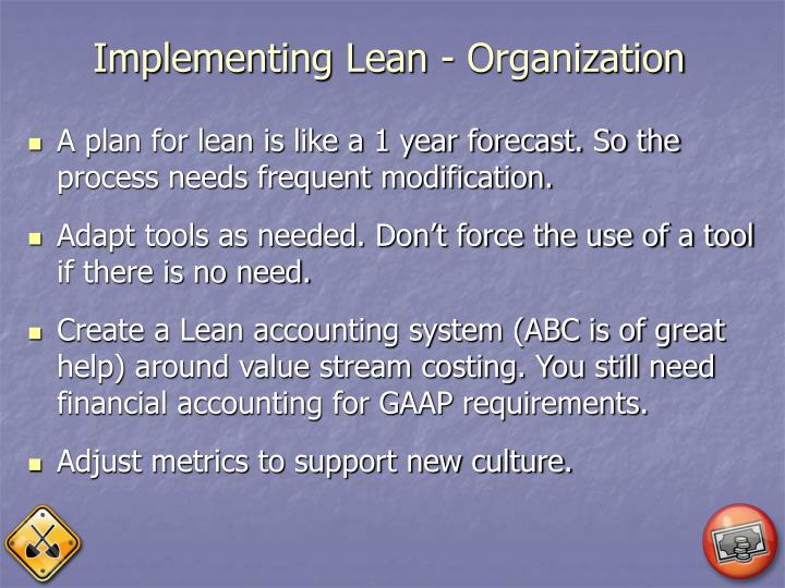 Implementing Lean - Organization