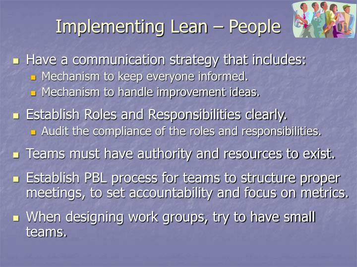 Implementing Lean – People