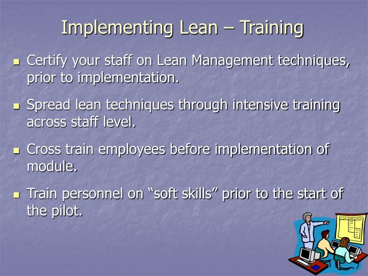 Implementing Lean – Training