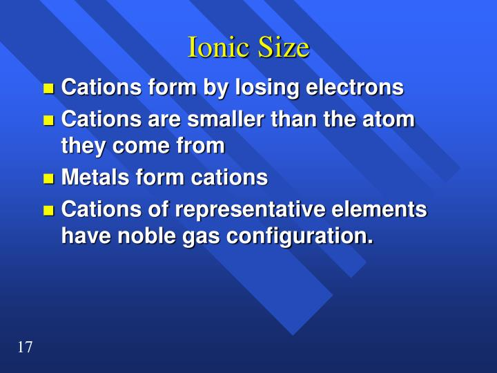 Ionic Size