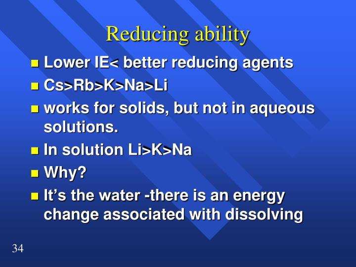 Reducing ability