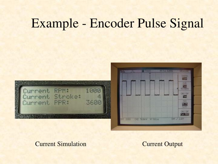 Example - Encoder Pulse Signal