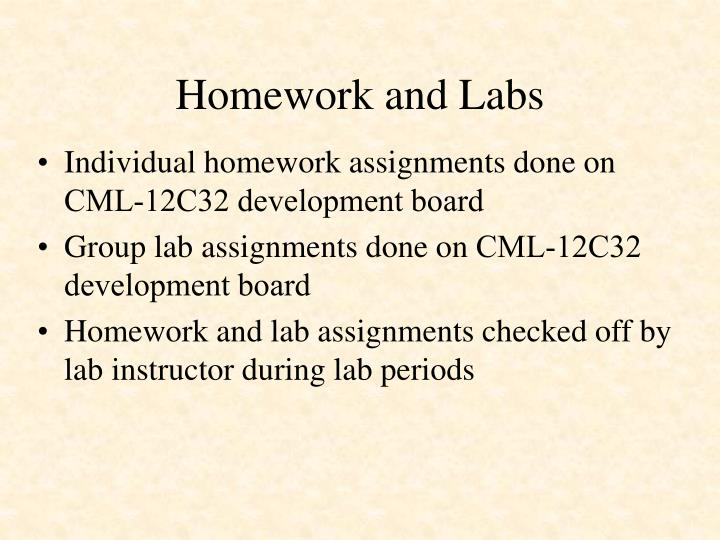 Homework and Labs