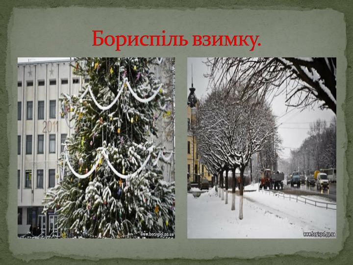 Бориспіль взимку.