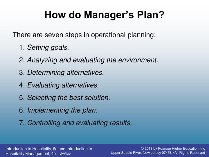 How do Manager's Plan?