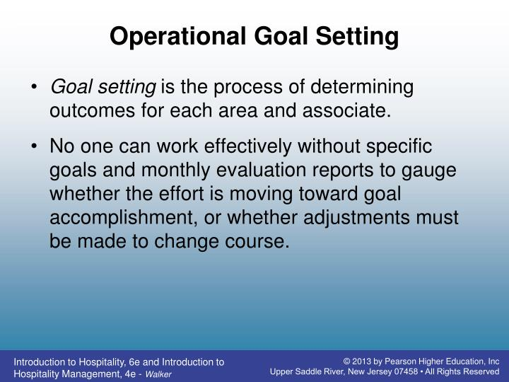 Operational Goal Setting