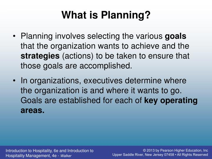 What is Planning?
