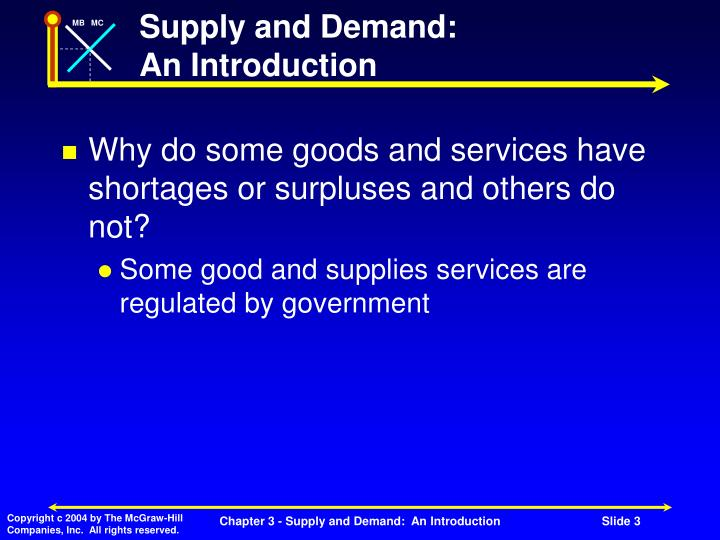 Supply and Demand: