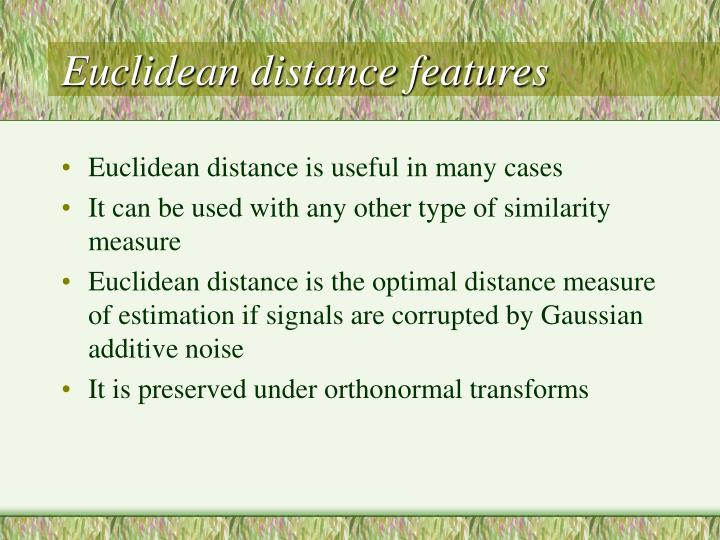 Euclidean distance features