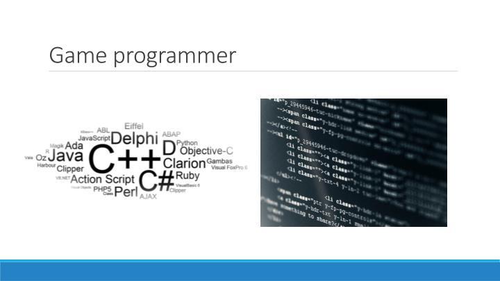 Game programmer