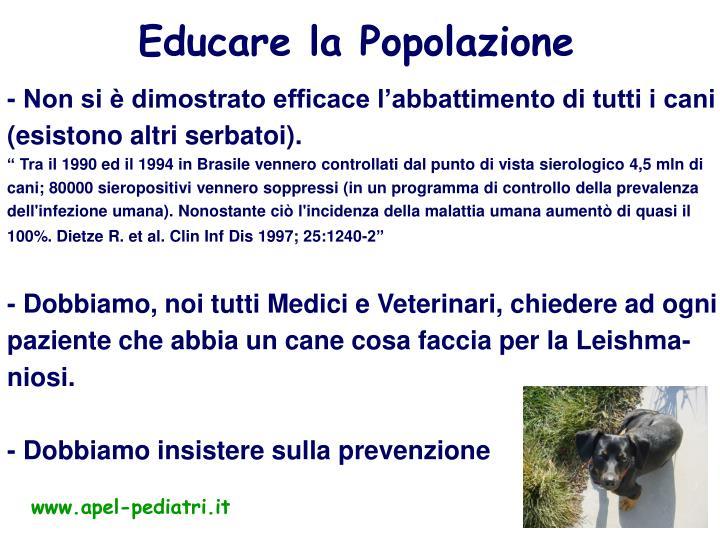 Educare la Popolazione