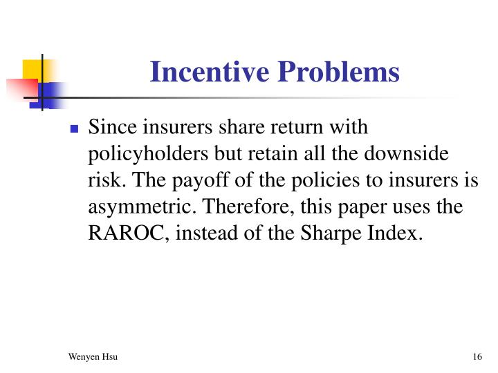 Incentive Problems