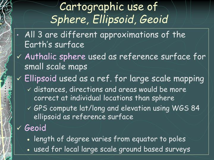 Cartographic use of
