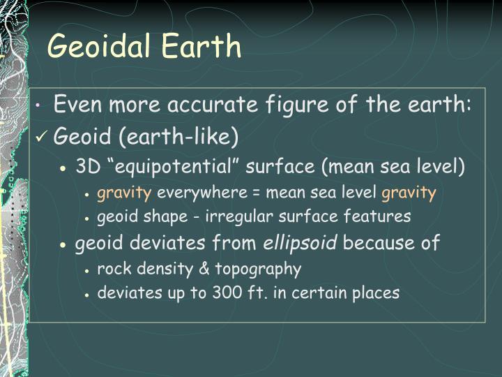 Geoidal Earth