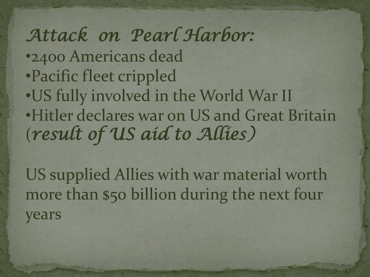 Attack  on  Pearl Harbor: