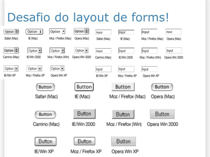 Desafio do layout de forms!