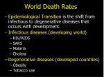 world death rates
