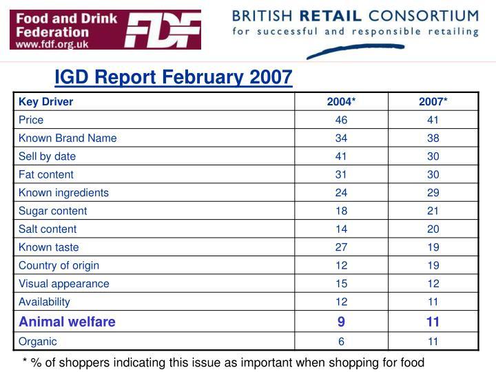 IGD Report February 2007