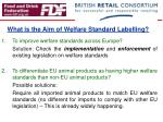 what is the aim of welfare standard labelling