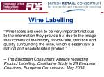 wine labelling