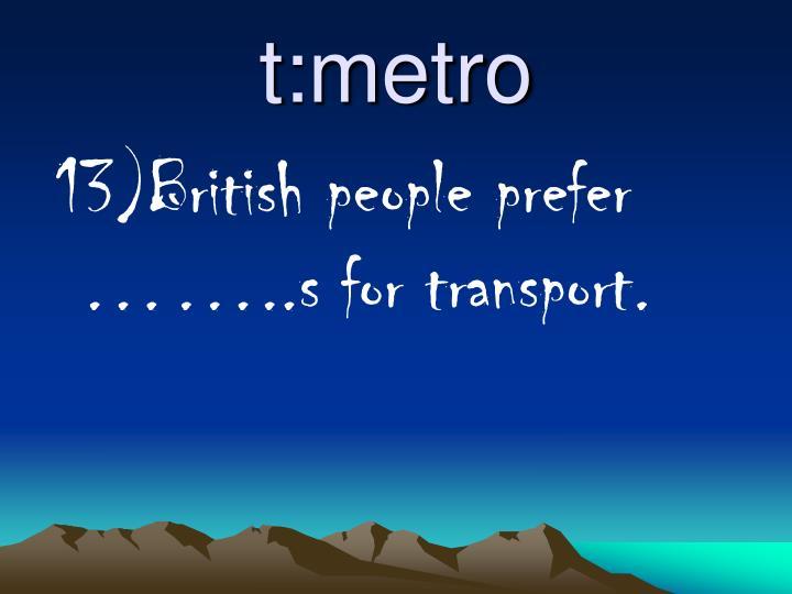 t:metro