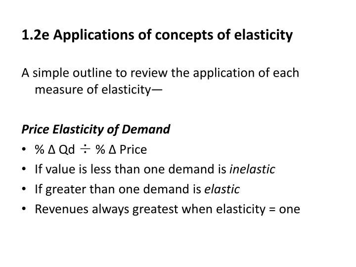 1.2e Applications of concepts of elasticity