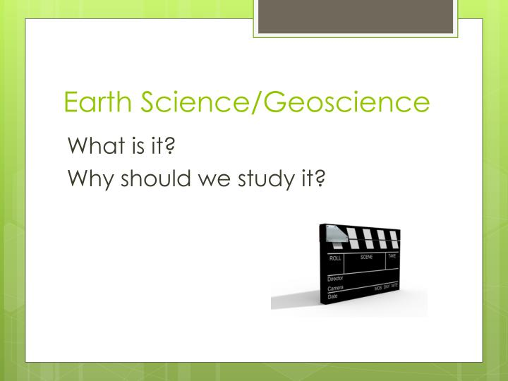 Earth science geoscience