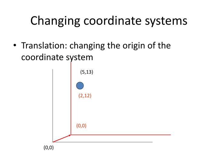 Changing coordinate systems