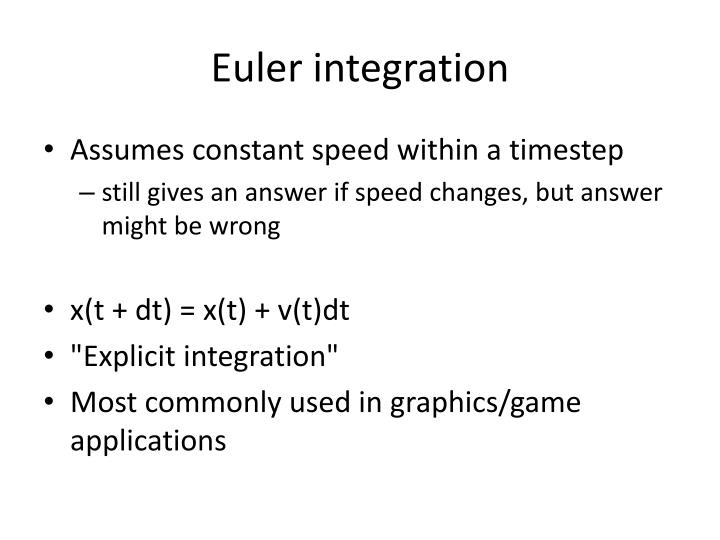 Euler integration