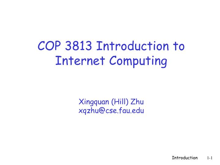 COP 3813 Introduction to Internet Computing