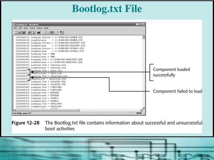 Bootlog.txt File