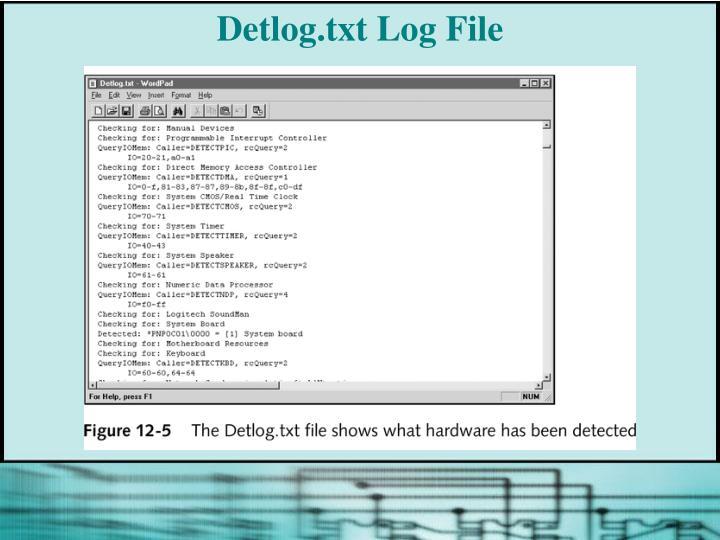 Detlog.txt Log File