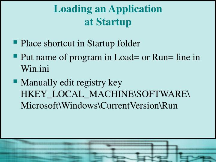 Loading an Application