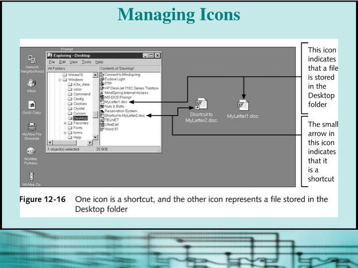 Managing Icons