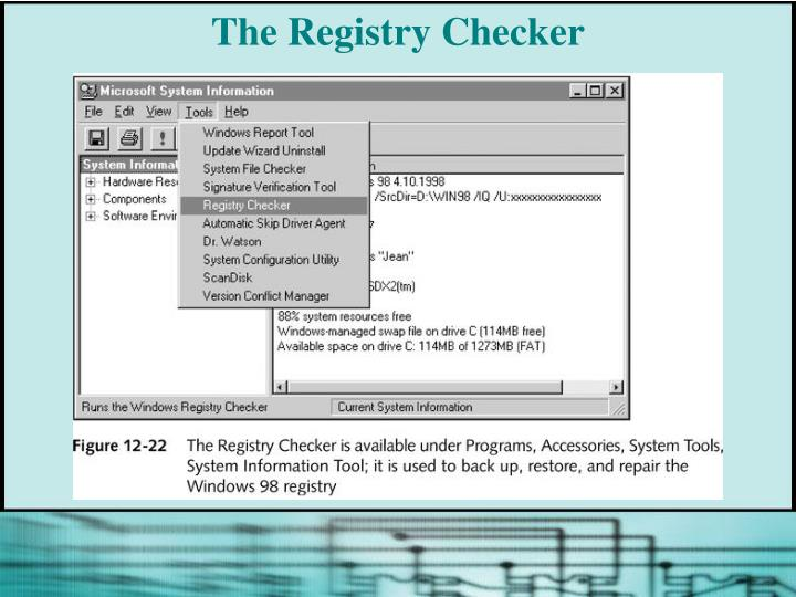 The Registry Checker