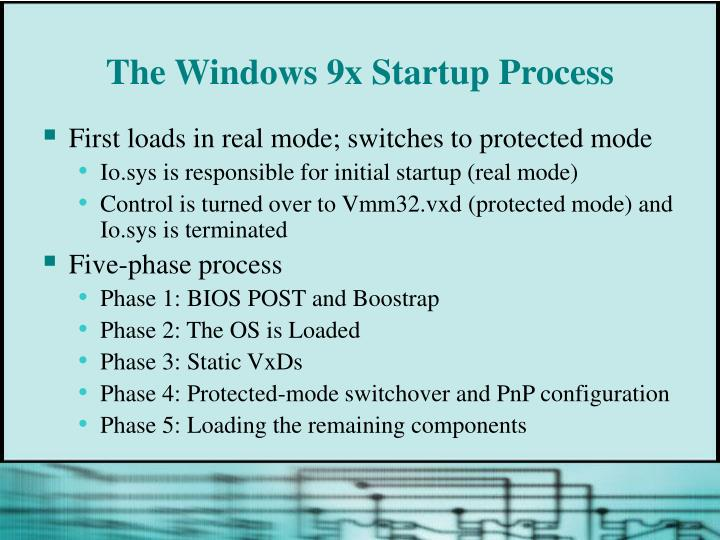 The Windows 9x Startup Process